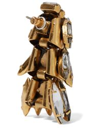 Elizabeth Cole - Metallic Gold-plated Swarovski Crystal Earrings - Lyst