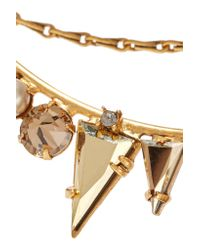 Elizabeth Cole | Metallic Dakota Gold-plated, Swarovski Crystal And Faux Pearl Necklace | Lyst
