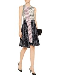 Tanya Taylor - Black Parton Flocked Faille Mini Dress - Lyst