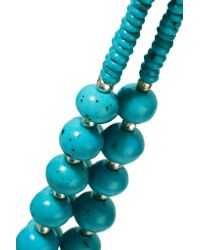 Kenneth Jay Lane - Blue Bead And Silver-tone Necklace - Lyst
