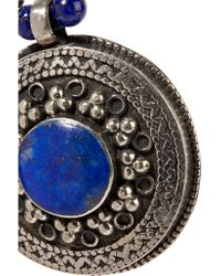Chan Luu - Metallic Burnished Silver-tone Lapis Necklace - Lyst