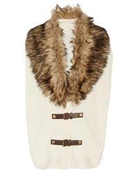 MICHAEL Michael Kors | Multicolor Faux Fur-trimmed Convertible Cotton-blend Gilet | Lyst