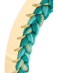 Aurelie Bidermann | Metallic Gold-plated Braided Cotton Choker | Lyst