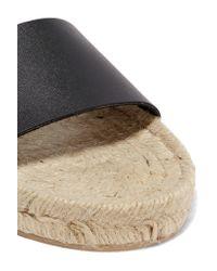 Iris & Ink - Black Hudson Leather Slides - Lyst