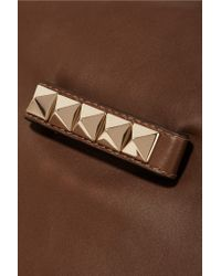 Valentino - Brown Leather Clutch - Lyst
