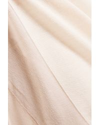 Vionnet - Natural Gauze-paneled Knitted Top - Lyst