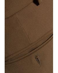 Etro - Natural Cotton-blend Slim-leg Pants - Lyst