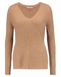 Autumn Cashmere | Natural Ribbed Cashmere Sweater | Lyst