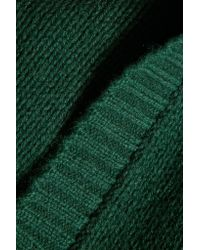 Autumn Cashmere | Green Open-knit Cashmere Sweater | Lyst