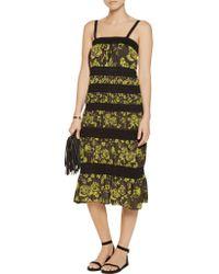 M Missoni | Black Paneled Knitted Cotton-blend Dress | Lyst