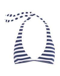 Heidi Klein | White Palermo Striped Halterneck Bikini Top | Lyst
