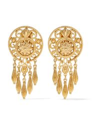 Ben-Amun | Metallic Gold-plated Clip Earrings | Lyst