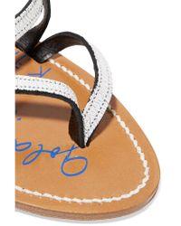 Golden Goose Deluxe Brand - Metallic Cracked-leather Sandals - Lyst