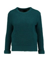Marc By Marc Jacobs | Green Wally Waffle-knit Wool-blend Sweater | Lyst