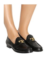 Tory Burch - Black Townsend Leather Loafers - Lyst