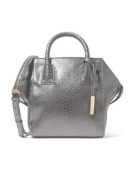 Stella McCartney - Black Boston Snake-effect Faux Leather Shoulder Bag - Lyst