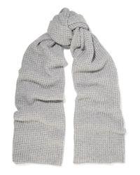 dc0fc9f99dd55 Lyst - Madeleine Thompson Hemingfield Waffle-knit Cashmere Scarf in Gray