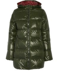 Duvetica | Green Kappa Hooded Padded Shell Down Coat | Lyst
