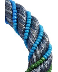 Aurelie Bidermann - Blue Maya Braided Beaded Bracelet - Lyst