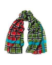 Marc By Marc Jacobs | Green Printed Cotton Scarf | Lyst