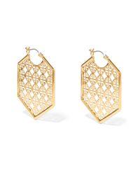 Tory Burch - Metallic Cutout Gold-tone Earrings - Lyst