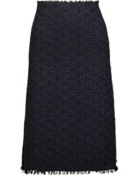 Nina Ricci | Blue Wool-blend Tweed Skirt | Lyst