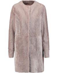 DROMe | Blue Lacoon Reversible Shearling Coat | Lyst