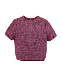 Raoul | Pink Cocoon Tweed Top | Lyst