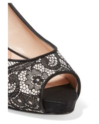 Lucy Choi - Black Chiswick Lace And Leather Pumps - Lyst