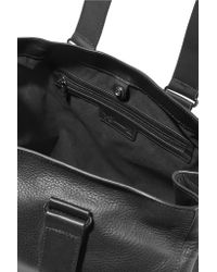 Y-3 - Black Leather Tote - Lyst