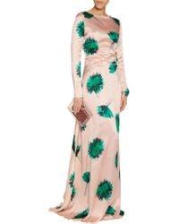 Nina Ricci - Multicolor Floral-print Silk Gown - Lyst