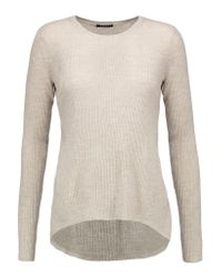 Theory | Natural Ellyna Ribbed Merino Wool Sweater | Lyst