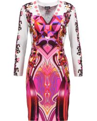 Just Cavalli | Red Printed Stretch-jersey Dress | Lyst