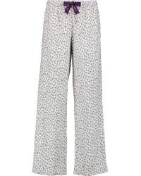 Calvin Klein | Gray Leopard-print Cotton-flannel Pajama Pants | Lyst