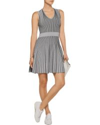 Opening Ceremony - Gray Ribbed Stretch-knit Mini Dress - Lyst