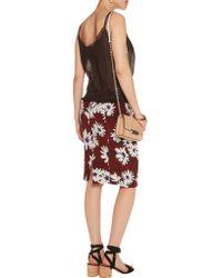 Nina Ricci - Black Lace-trimmed Cotton Camisole - Lyst