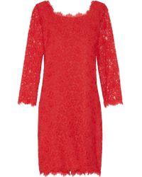 Diane von Furstenberg   Blue Zarita Lace Dress   Lyst
