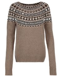 Bailey 44 | Multicolor Embellished Intarsia-knit Sweater | Lyst