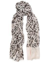 Proenza Schouler | Gray Printed Modal And Silk-blend Scarf | Lyst