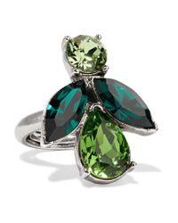 Oscar de la Renta | Metallic Silver-tone Crystal Ring | Lyst