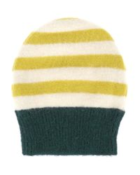 Marni - Yellow Striped Alpaca-blend Beanie - Lyst