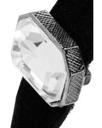 Kenneth Jay Lane - Black Crystal-embellished Velvet Choker - Lyst