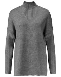 Tory Burch - Gray Wool Turtleneck Sweater - Lyst