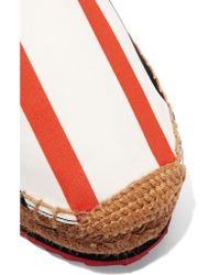 Dolce & Gabbana - Multicolor Striped Canvas Espadrilles - Lyst
