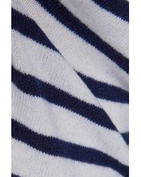 Equipment - Blue Shane Striped Cashmere Sweater - Lyst