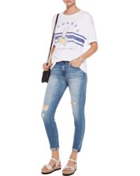 Zoe Karssen - White Printed Modal And Cotton-blend Jersey T-shirt - Lyst