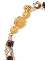 Shourouk - Blue Mini Theresa Gold-tone, Crystal And Sequin Necklace - Lyst