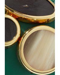 Marni - Green Stone-embellished Leather Bracelet - Lyst