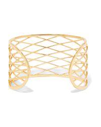 Noir Jewelry - Metallic Raveled Gold-tone Cuff - Lyst