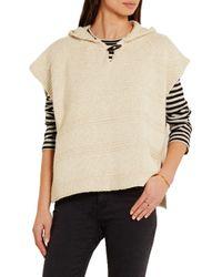 Étoile Isabel Marant - Natural Flora Hooded Cotton-blend Sweater - Lyst